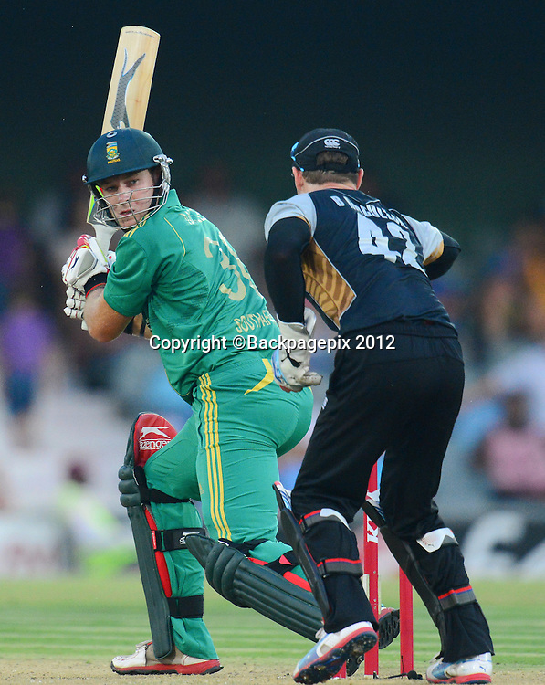 David Miller of South Africa during the 2012 KFC T20 International between South Africa and New Zealand at Buffalo Park in East London, South Africa on December 23, 2012 ©Barry Aldworth/BackpagePix