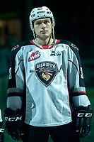 KELOWNA, BC - DECEMBER 18: Michal Kvasnica #38 of the Vancouver Giants stands on the ice against the Kelowna Rockets at Prospera Place on December 18, 2019 in Kelowna, Canada. (Photo by Marissa Baecker/Shoot the Breeze)