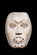 Frog woman mask by Norman Tait, British Columbia, Canada