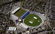 aerial photograph of  Headingley Cricket Ground  Leeds  Yorkshire England UK