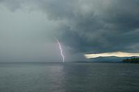 Lighting storm moving across Lake Winnipesaukee.  Karen Bobotas for the Laconia Daily Sun