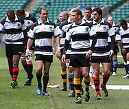 Matt Giteau leads the Barbarians to a photocall before the match between between the Barbarians and South Africa at Twickenham, London, on Saturday 4th December 2010. (Photo by Andrew Tobin/SLIK images)