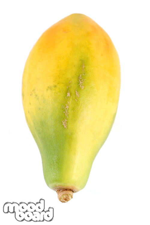 Papaya on white background - studio shot