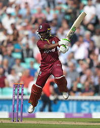 West IndiesÕ Jason Mohammed during the Fourth Royal London One Day International at the Kia Oval, London.