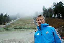 Miran Tepes, ski jumping official at visit of FIS representatives to inspect reconstruction of Planica's Ski Flying Hill, on November 11, 2014 in Planica Nordic centre, Slovenia. Photo by Vid Ponikvar / Sportida