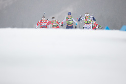 Faehndrich Nadine (SUI), Nilsson Stina (SWE), Falla Maiken (NOR) and Weng Lotta (NOR) during the Ladies sprint free race at FIS Cross Country World Cup Planica 2019, on December 21, 2019 at Planica, Slovenia. Photo By Grega Valancic / Sportida