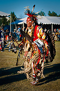 Ronald Crane of Hobbema, Alberta begins to dance during the opening ceremony of the Julyamsh Pow Wow in Post Falls on Friday evening. This year marks the thirteenth annual Julyamsh and will continue throughout the weekend at Greyhound Park and Event Center.
