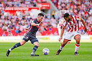 Leeds United midfielder Jack Harrison (22), on loan from Manchester City,  during the EFL Sky Bet Championship match between Stoke City and Leeds United at the Bet365 Stadium, Stoke-on-Trent, England on 24 August 2019.