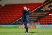 Grant McCann of Doncaster Rovers applauds fans after the EFL Sky Bet League 1 match between Doncaster Rovers and Bristol Rovers at the Keepmoat Stadium, Doncaster, England on 26 March 2019.