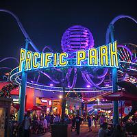 Pacific Park on Santa Monica Pier, Los Angeles, California.