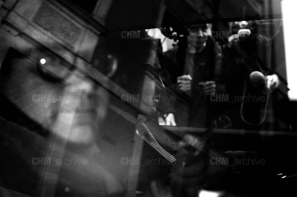 Luigi Di Maio inside a taxi cab. Presentation of the Five Stars movement candidate for the upcoming Italian general election. Rome 29 January 2018. Christian Mantuano / OneShot