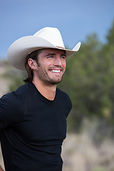 cowboy with a great smile outdoors
