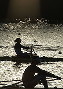 Caversham, Reading, Great Britain,  Top, Helen GLOVER and Jonny WALTON, during the  GBRowing Training Session, at the National Training Base, Berkshire, England.<br /> <br />  Wednesday  09/12/2015<br /> <br /> [Mandatory Credit; Peter Spurrier/Intersport-images]