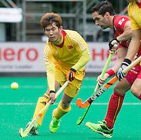 ANTWERP -   Zhixuan Zhang of China during  the match of the men  Belgium v China.  WSP COPYRIGHT KOEN SUYK