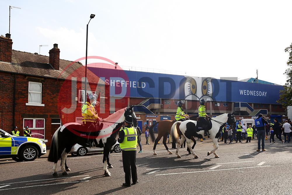 Police presence outside Hillsborough Stadium - Mandatory by-line:  Matt McNulty/JMP - 24/09/2017 - FOOTBALL - Hillsborough - Sheffield, England - Sheffield Wednesday v Sheffield United - Sky Bet Championship