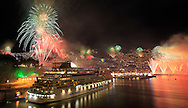 Fireworks light up the sky above Funchal Bay, Madeira Island, to celebrate the arrival of the New Year on January 1.<br /> Photo Greg&oacute;rio Cunha
