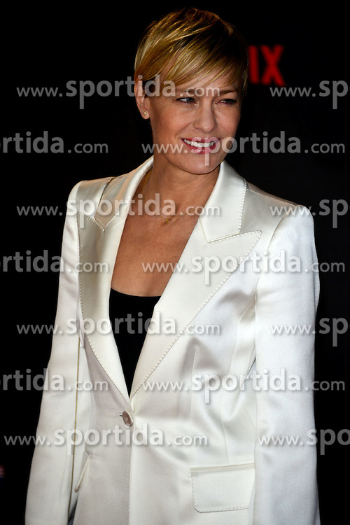 Robin Wright at the House Of Cards - UK TV premiere at The Empire Leicester Square in London. 26th February 2015. EXPA Pictures &copy; 2015, PhotoCredit: EXPA/ Photoshot/ Brian Jordan<br /> <br /> *****ATTENTION - for AUT, SLO, CRO, SRB, BIH, MAZ only*****