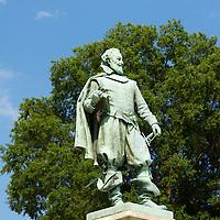 Statue of Captain John Smith at Historic Jamestowne in Virginia.