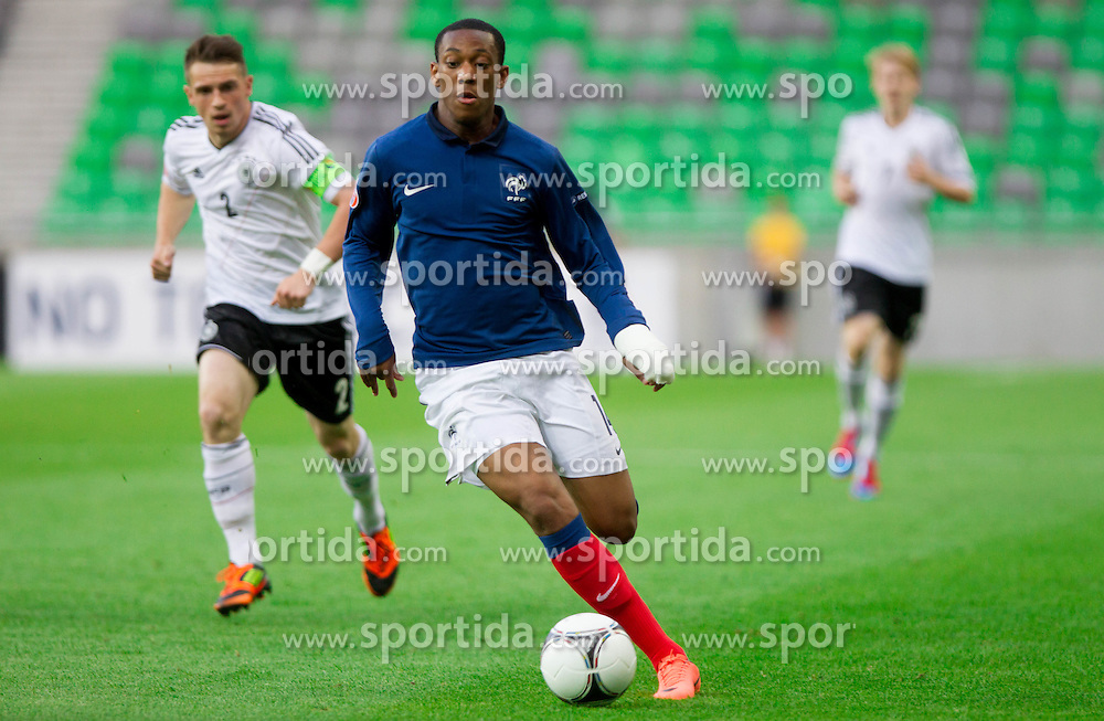 Anthony Martial of France during the UEFA European Under-17 Championship Group A match between Germany and France on May 10, 2012 in SRC Stozice, Ljubljana, Slovenia. (Photo by Vid Ponikvar / Sportida.com)