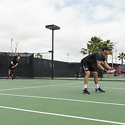 11 March 2016: The San Diego State Aztecs tennis team took on Arizona Saturday afternoon at the SDSU Tennis Center.