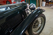 Green MG 1946 classic British sports car