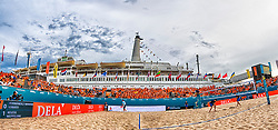 20-07-2018 NED: CEV DELA Beach Volleyball European Championship day 6<br /> Venue SS Rotterdam with the Orange fans
