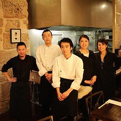 """L'equipe du restaurant """"Isse"""", pour Telerama Sortir. Paris 1er, 45 rue Richelieu. 12 fevrier 2009. Photo : Antoine Doyen"""