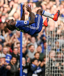 Goal, Victor Moses of Chelsea scores, celebrates with a somersault, Chelsea 3-0 Leicester City - Mandatory by-line: Jason Brown/JMP - 15/10/2016 - FOOTBALL - Stamford Bridge - London, England - Chelsea v Leicester City - Premier League