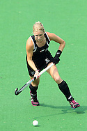 Emily Naylor during the pool B women's hockey match of the The Commonwealth Games between New Zealand and Wales held at the Stadium in New Delhi, India on the  October 2010..Photo by:  Ron Gaunt/SPORTZPICS/PHOTOSPORT