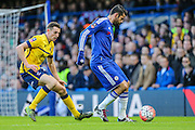 Chelsea's Diego Costa on the ball during the The FA Cup third round match between Chelsea and Scunthorpe United at Stamford Bridge, London, England on 10 January 2016. Photo by Shane Healey.