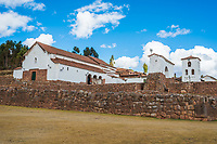 Chincheros town in the peruvian Andes at Cuzco Peru