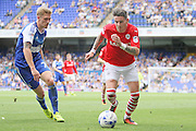 Barnsley midfielder Adam Hammill attacks during the EFL Sky Bet Championship match between Ipswich Town and Barnsley at Portman Road, Ipswich, England on 6 August 2016. Photo by Nigel Cole.