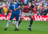 Football - 2018 FA Cup Final - Chelsea vs. Manchester United<br /> <br /> Marcus Rashford (Manchester United) and Ngolo Kante (Chelsea FC)  battle in the midfield for possession at Wembley Stadium.<br /> <br /> COLORSPORT/DANIEL BEARHAM