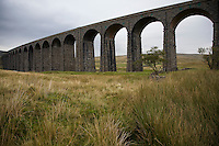 Ribblehead Viaduct River Ribble Yorkshire Dales Yorkshire England