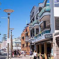Street scene in Manly Beach, Sydney, Australia.