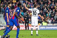 VfL Borussia Monchengladbach's Thorgan Hazard  during Champions League match between Futbol Club Barcelona and VfL Borussia Mönchengladbach  at Camp Nou Stadium in Barcelona , Spain. December 06, 2016. (ALTERPHOTOS/Rodrigo Jimenez)