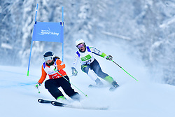 Women's Giant Slalom, PERRINE Melissa, Guide: KELLY Bobbi, B2, AUS at the WPAS_2019 Alpine Skiing World Championships, Kranjska Gora, Slovenia