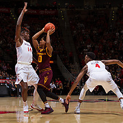 10 December 2016: The San Diego State Aztecs men's basketball team host's Saturday afternoon at Viejas Arena. The Aztecs lead the Sun Devils 32-25 at half time. www.sdsuaztecphotos.com