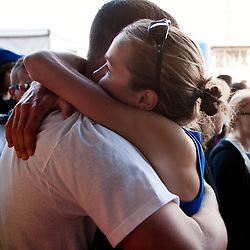 2012 USA Olympic Marathon Trials: post-race hug