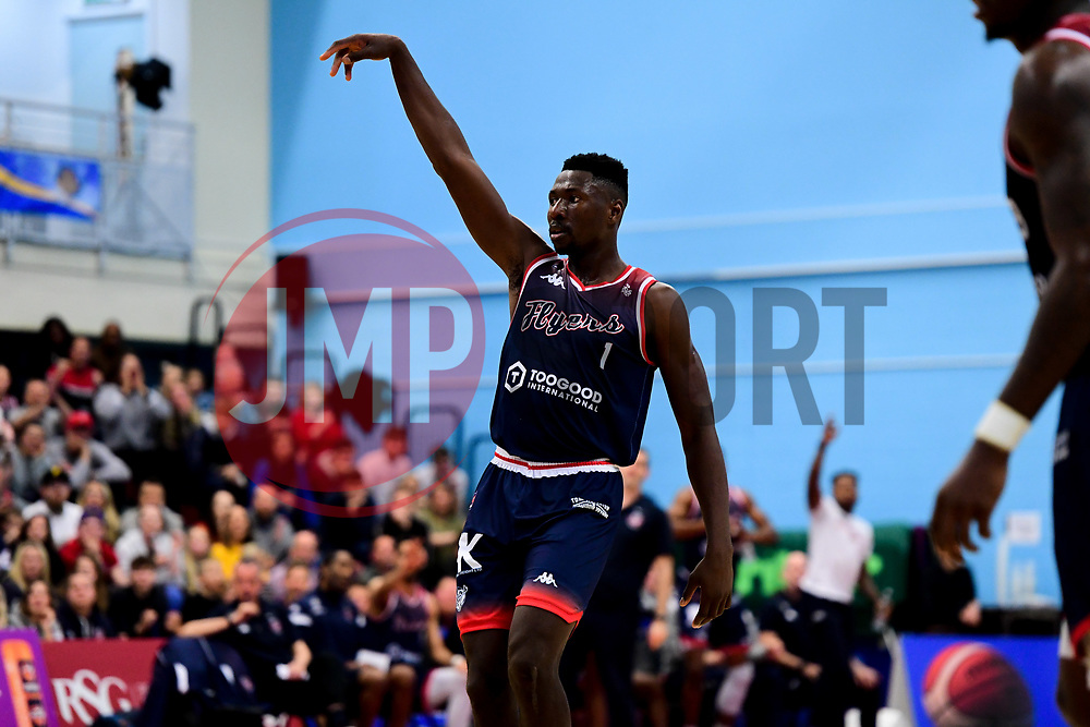 Daniel Edozie of Bristol Flyers - Photo mandatory by-line: Ryan Hiscott/JMP - 15/11/2019 - BASKETBALL - SGS Wise Arena - Bristol, England - Bristol Flyers v London City Royals - British Basketball League Cup