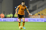Wolverhampton Wanderers midfielder Ruben Neves (8) on the attack 2-0 during the EFL Sky Bet Championship match between Wolverhampton Wanderers and Fulham at Molineux, Wolverhampton, England on 3 November 2017. Photo by Alan Franklin.