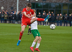 WREXHAM, WALES - Wednesday, October 30, 2019: Wales' Joel Cotterill during the 2019 Victory Shield match between Wales and Republic of Ireland at Colliers Park. (Pic by David Rawcliffe/Propaganda)
