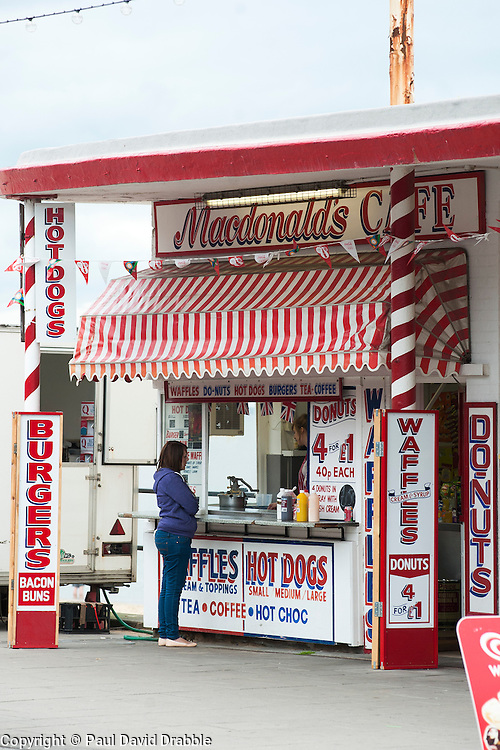 MacDonalds Cafe a Traditional British seaside fast food stall on the sea front at Cleethorpes Lincolnshire..1 July 2012.Image © Paul David Drabble