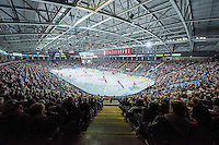 KELOWNA, CANADA - NOVEMBER 9: Prospera Place was a full house with a sold out game on November 9, 2015 during game 1 of the Canada Russia Super Series at Prospera Place in Kelowna, British Columbia, Canada.  (Photo by Marissa Baecker/Western Hockey League)  *** Local Caption *** fans