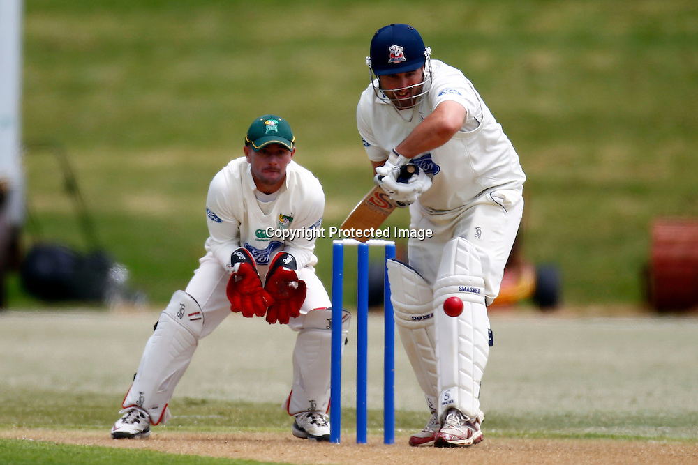 Aucklands Neal Parlane during the plunket shield cricket match between the Auckland Aces and the Central Stags. Domestic 4 day cricket. Colin Maiden Park, Auckland. 30 November 2011. Photo: William Booth/photosport.co.nz