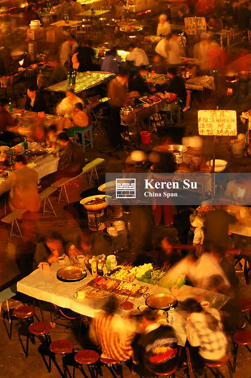 Night food market, Urumqi, Xinjiang Province, China