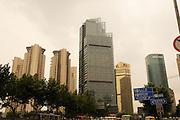 China, Shanghai, modern high rise building