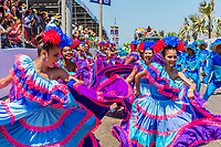 Barranquilla , Colombia  - February 25, 2017 : people participating at the parade of the carnival festival of  Barranquilla Atlantico Colombia