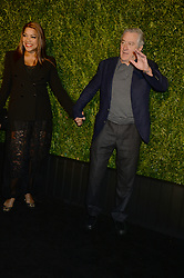 NEW YORK, NY - APRIL 23: Robert De Niro, Grace Hightower attends the 13th Annual Tribeca Film Festival CHANEL Dinner at Balthazar on April 23, 2018 in New York City....People:  Robert De Niro, Grace Hightower (Credit Image: © SMG via ZUMA Wire)