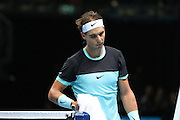 Rafael Nadal after victory during the ATP World Tour Finals at the O2 Arena, London, United Kingdom on 20 November 2015. Photo by Phil Duncan.